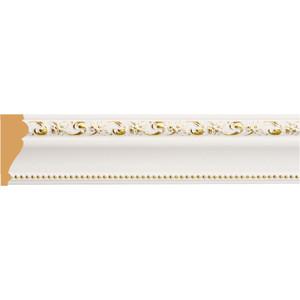 Молдинг Decomaster Белый с золотом цвет 54 60х22х2400 мм (161-54)