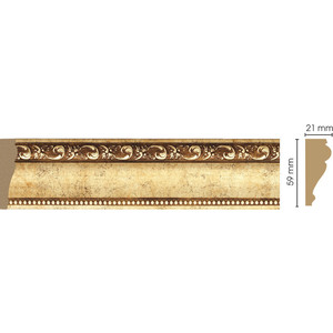 Молдинг Decomaster Античное золото цвет 552 60х22х2400 мм (161-552)