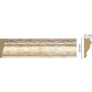 Молдинг Decomaster Шампань цвет 553 60х22х2400 мм (161-553)