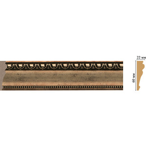 Молдинг Decomaster Ионика цвет 57 60х22х2400 мм (161-57) decomaster багет decomaster 808 552 размер 61х26х2900мм