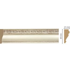 Молдинг Decomaster Матовое серебро цвет 937 60х22х2400 мм (161-937) decomaster потолочный плинтус карниз decomaster 154 937 размер 76х76х2400