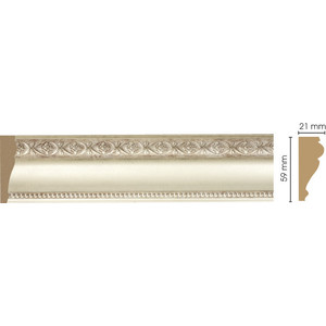 Молдинг Decomaster Матовое серебро цвет 937 60х22х2400 мм (161-937)