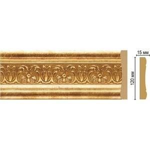 Молдинг Decomaster Золотой глянец цвет 126 120х15х2400 мм (162-126)