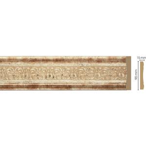 Молдинг Decomaster Венецианская бронза цвет 127 90х12х2400 мм (163-127)