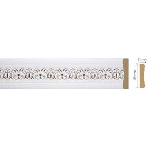 Молдинг Decomaster Дуб белый с золотом цвет 118 59х11х2400 мм (164-118)