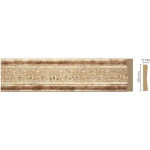 Молдинг Decomaster Венецианская бронза цвет 127 59х11х2400 мм (164-127)