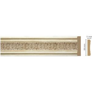 Молдинг Decomaster Светлое золото цвет 281 59х11х2400 мм (164-281)