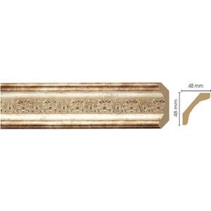 Плинтус Decomaster Венецианская бронза цвет 127 50х50х2400 мм (167-127) decomaster уголок decomaster 116 127 размер 30х30х2400