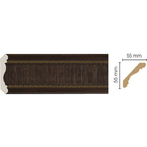 Плинтус Decomaster Темный шоколад цвет 1 57х57х2400 мм (173-1)