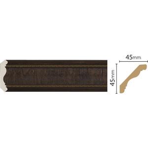Плинтус Decomaster Темный шоколад цвет 1 42х42х2400 мм (174-1)  плинтус молдинг 42х42х2400 мм decomaster прованс