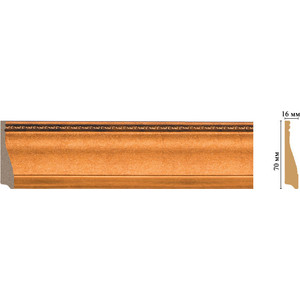 Плинтус Decomaster Эрмитаж цвет 1223 70х16х2400 мм (193-1223) decomaster багет decomaster 808 552 размер 61х26х2900мм