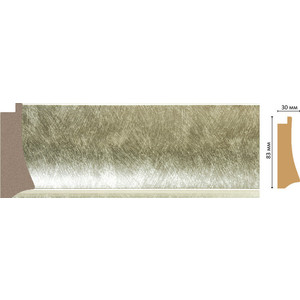 Багет Decomaster Ренессанс цвет 373 83х30х2900 мм (552-373) молдинг decomaster античное золото цвет 552 40х20х2900 мм 807 552