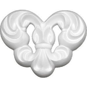 Орнамент Decomaster DECOMASTER-2 цвет белый 110х90х16 мм (66029)