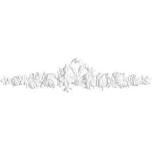 Орнамент Decomaster DECOMASTER-2 цвет белый 450х93х28 мм (66088)