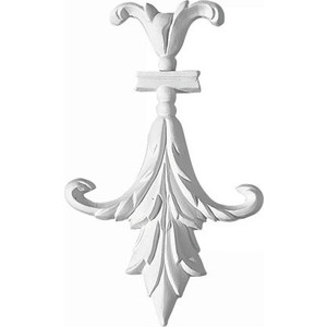 Орнамент Decomaster DECOMASTER-2 цвет белый 105х173х15 мм (66095)
