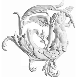 Орнамент Decomaster DECOMASTER-2 цвет белый 210х220х23 мм (66160 L)