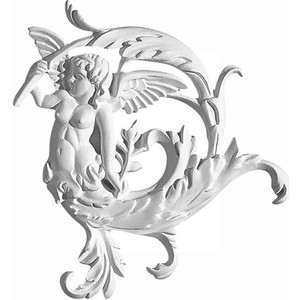 Орнамент Decomaster DECOMASTER-2 цвет белый 210х220х23 мм (66160 R)