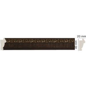 Молдинг Decomaster Темный шоколад цвет 1 40х20х2900 мм (807-1)