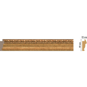 Молдинг Decomaster Ионика цвет 58 40х20х2900 мм (807-58)