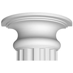Полукапитель Decomaster цвет белый 320х160х130 мм (90018-3-H)