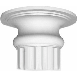 Капитель Decomaster цвет белый 320х320х130 мм (90018-3)