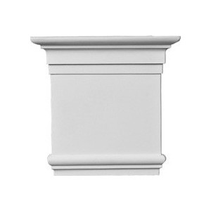 Капитель для камина Decomaster цвет белый 205х190х65 мм (92815-1L)
