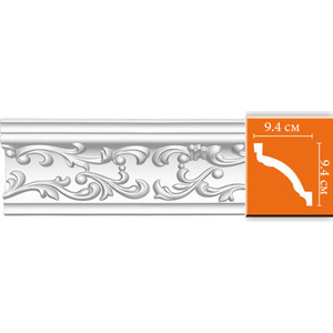 Профиль гибкий Decomaster DECOMASTER-2 цвет белый 94х94х2400 мм (95292 fl)