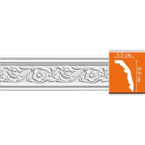 Профиль гибкий Decomaster DECOMASTER-2 цвет белый 55х88х2400 мм (95323 fl)