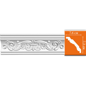 Профиль Decomaster DECOMASTER-2 цвет белый 76х73х2400 мм (95406)