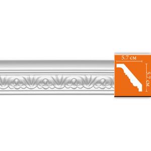 Профиль гибкий Decomaster DECOMASTER-2 цвет белый 52х56х2400 мм (95609 fl)