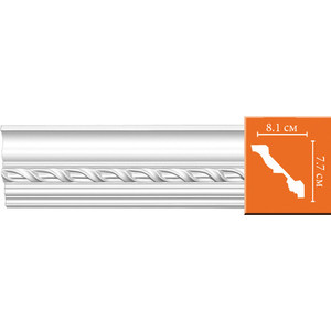 Профиль Decomaster DECOMASTER-2 цвет белый 81х77х2400 мм (95673)