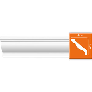 Профиль гибкий Decomaster DECOMASTER-2 цвет белый 40х40х2400 мм (96015 fl)
