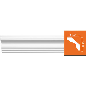 Профиль гибкий Decomaster DECOMASTER-2 цвет белый 41х41х2400 мм (96159 fl)