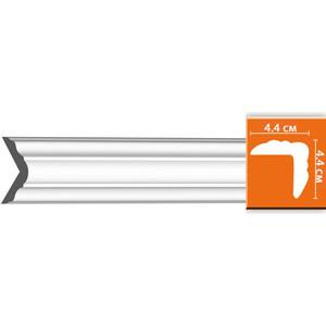 Плинтус Decomaster DECOMASTER-2 цвет белый 44х44х2400 мм (96206)