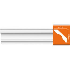 Профиль гибкий Decomaster DECOMASTER-2 цвет белый 45х45х2400 мм (96215 fl)