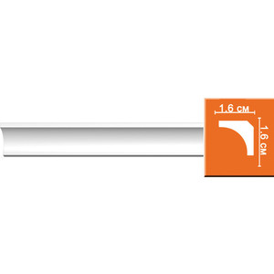 Профиль гибкий Decomaster DECOMASTER-2 цвет белый 16х16х2400 мм (96240 fl)