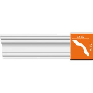 Профиль гибкий Decomaster DECOMASTER-2 цвет белый 75х75х2400 мм (96259 fl)