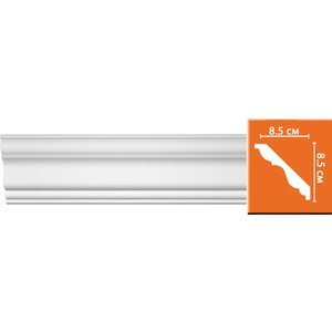 Профиль гибкий Decomaster DECOMASTER-2 цвет белый 85х85х2400 мм (96406 fl)