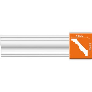 Профиль Decomaster DECOMASTER-2 цвет белый 58х55х2400 мм (96610)