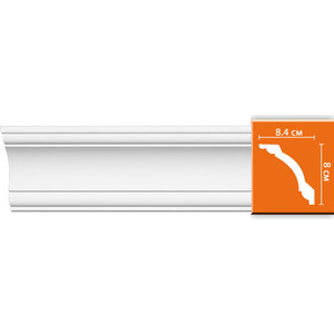 Профиль Decomaster DECOMASTER-2 цвет белый 84х80х2400 мм (96620)