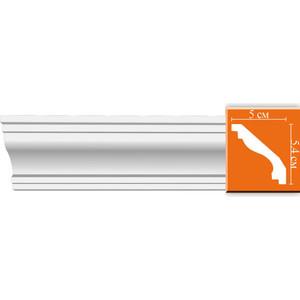 Профиль гибкий Decomaster DECOMASTER-2 цвет белый 50х54х2400 мм (96627 fl)