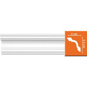 Профиль гибкий Decomaster DECOMASTER-2 цвет белый 50х52х2400 мм (96628 fl)