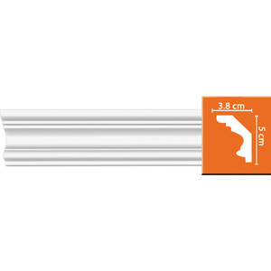 Профиль Decomaster DECOMASTER-2 цвет белый 38х50х2400 мм (96686)