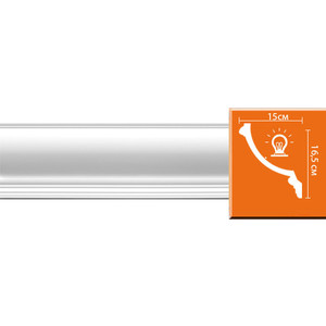 Профиль Decomaster DECOMASTER-2 цвет белый 150х165х2400 мм (96900)