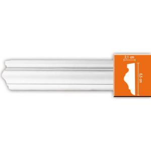 Молдинг Decomaster DECOMASTER-2 цвет белый 21х65х2400 мм (97022)