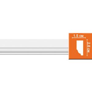 Молдинг Decomaster DECOMASTER-2 цвет белый 28х15х2400 мм (97111)