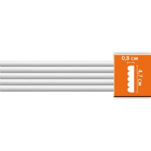 Молдинг Decomaster DECOMASTER-2 цвет белый 47х9х2400 мм (97607)