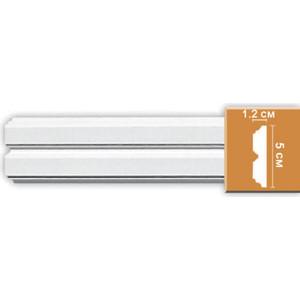 Молдинг Decomaster DECOMASTER-2 цвет белый 12х50х2400 мм (97624)