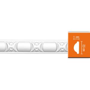 Молдинг гибкий Decomaster DECOMASTER-2 цвет белый 10х25х2400 мм (98013 fl)