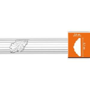 Молдинг Decomaster DECOMASTER-2 цвет белый 52х30х2400 мм (98020)